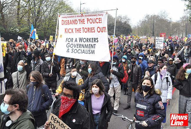 10,000 March in London against new police powers Bill 03.4.21