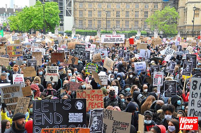 BLACK LIVES MATTER: 60,000 RALLY AND MARCH IN LONDON