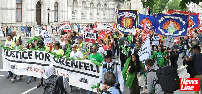 FBU-Justice4Grenfell joint march