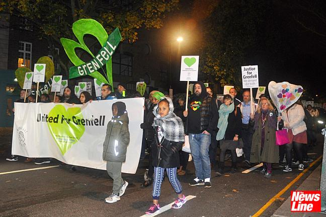 500 attend Grenfell Silent March