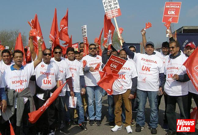 Thousands turn out to save Honda factory