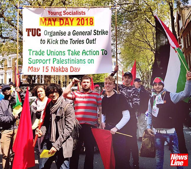 MAY DAY MARCHERS DEMAND 'KICK TORIES OUT'