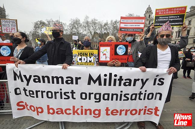 Parliament Square demo against Myanmar coup 31.3.21
