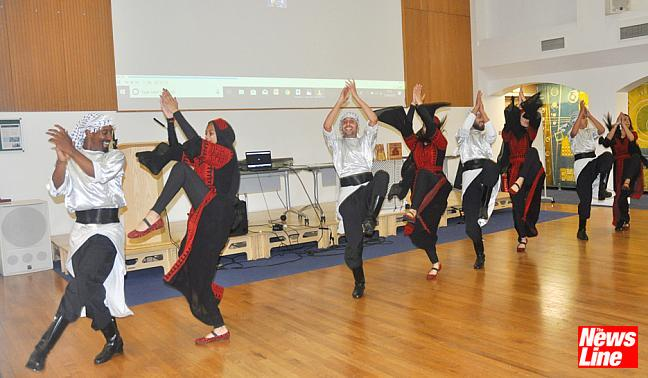 0251 The Haweyah Dabkeh dance group take to the floor