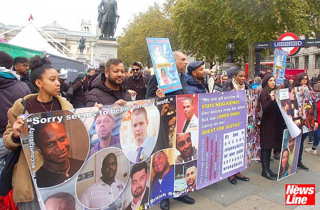 United Families and Friends Campaign march to Downing Street