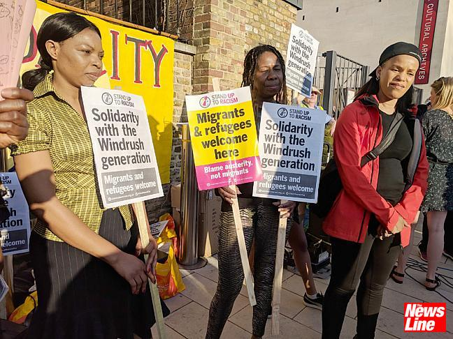 Brixton rally over Windrush scandal