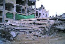 Palestinian homes in Al Zutan destroyed by the Israeli army