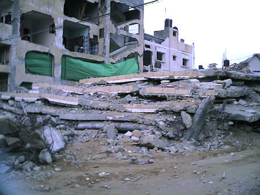 Palestinian homes in Al Zutan destroyed by the Israeli army