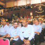 A section of the over 600-strong audience at the CWU anti-privatisation rally in central London on Wednesday