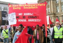 Young Socialists marchers received an enthusiastic response in Birmingham last Saturday for their stand against ASBOs and Dispersal Orders