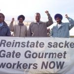 Locked-out Gate Gourmet workers picketing over the weekend are determined to be reinstated