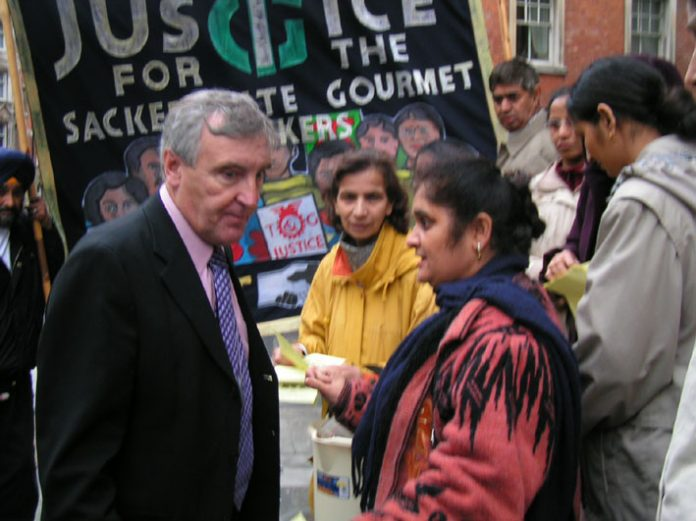 TGWU leader TONY WOODLEY has  to listen as Gate Gourmet workers denounce the sell-out deal negotiated with the company