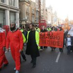 Demonstration in London on January 26 demanding the release of Omar Deghayes and all other detainees from the Guantanamo Bay prison camp