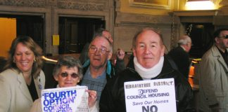 Braintree Defend Council Housing members at the conference in Westminster Central Halls