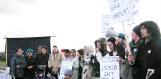 Section of the mass sixth month picket near Beacon roundabout, Heathrow yesterdayeacon
