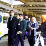 Gate Gourmet locked-out workers were yesterday leafleting at Heathrow Airport