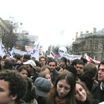 A million French workers, youth and students marched through Paris yesterday against the government's plan for youth