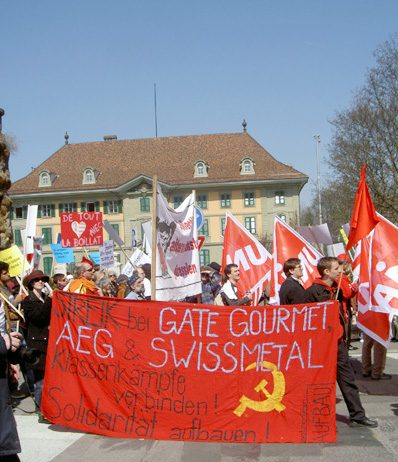 2,500 march in Berne to support Gate Gourmet workers
