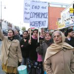 Gate Gourmet locked-out workers on the the thousand-strong march through Southall on December 4th last year