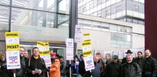 Solid support for the national strike action on March 7 by lecturers at the London College of Communication