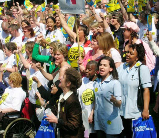 Over a thousand RCN members lobbied parliament on May 11 demanding an end to cuts in the NHS that have resulted in the loss of 15,000 nursing jobs