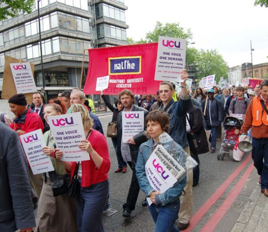 A section of the 5,000-strong march on June 1st when lecturers' leaders pledged they would carry on with the exams boycott and fight for a decent offer from the employers