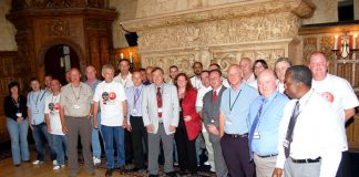 The National GMB ASDA shop stewards committee with GMB officials who met representatives of ASDA yesterday in Blackpool