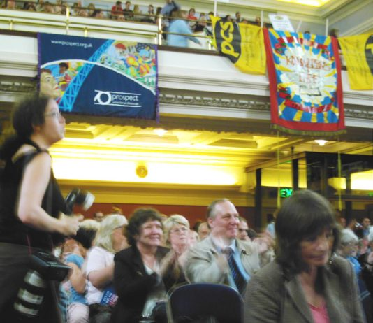 A section of the audience at Tuesday's 'Public Services Not Private Profit' rally in Westminster on Tuesday