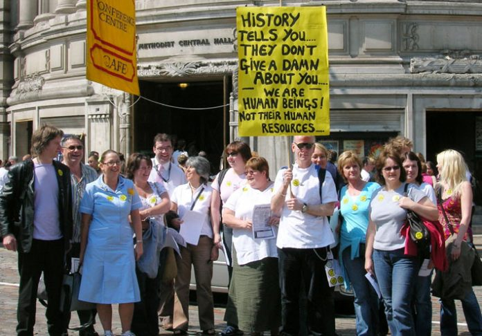 RCN National rally in London in May against all cuts in the NHS budget