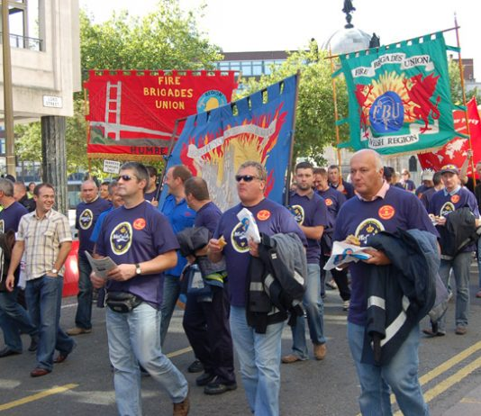 Over 7,000 firefighters took part in the recent national demonstration in Liverpool to support the Merseyside FBU dispute