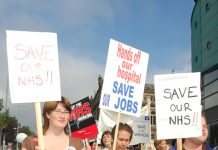 Thousands of health workers and their supporters marched through Nottingham last Saturday demanding the defence of the NHS. They called to stop the privatisation of NHS Logistics