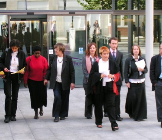 Campaigners, doctors, lawyers and ex-detainees gathered outside the Home Office on Wednesday to hold a press conference after Anne Owers' report on Yarl's Wood