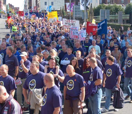 Cambridge and Norfolk firefighters took part in the 7,000-strong march through Liverpool on September 15 in support of striking Merseyside firefighters