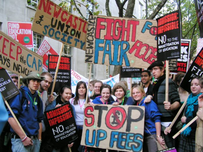 Newcastle University students came down in force to join the national demonstration in London