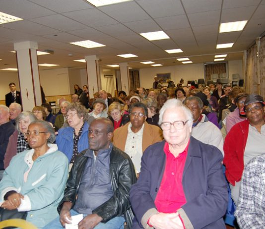 The audience at last Thursday night's Save Whipp's Cross Hospital meeting