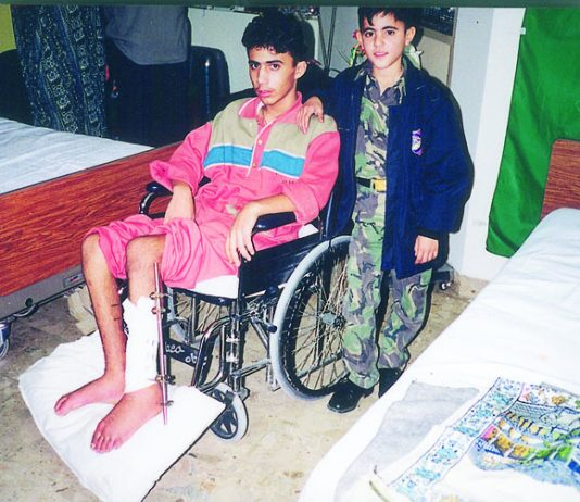 Many young Palestinians, victims of Israeli attacks on the Intifada were treated for their injuries in Baghdad hospitals at the invitation of Saddam Hussein