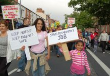 Marchers in Nottingham on September 23 determined to fight any cuts to the NHS