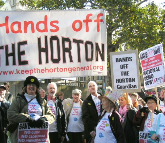 Horton Hospital campaigners from Banbury at the NHS Together lobby of Parliament on November 1st