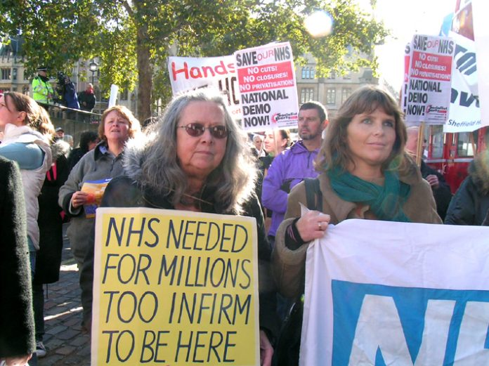 'NHS Together' lobby of parliament on November 1st demanding no cuts to NHS services