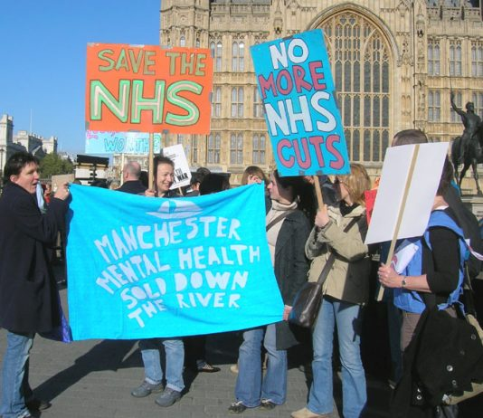 Manchester Mental Health trade unionists on the 'NHS Together' lobby of parliament on November 1st