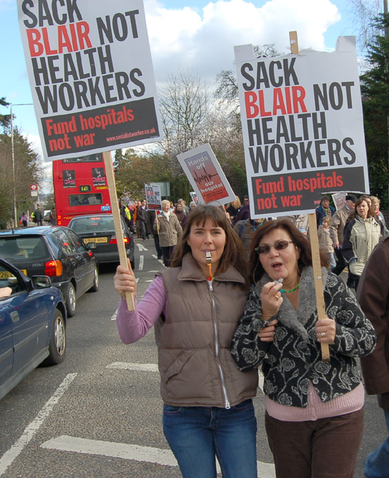Marching to defendt the NHS on March 3rd