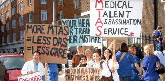 Junior doctors demonstrated through London on Saturday March 17th