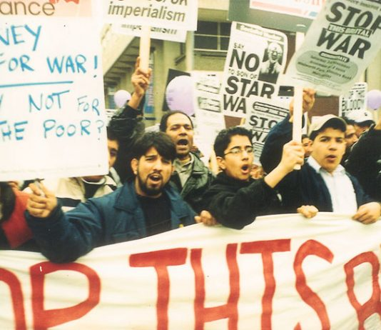 Demonstration in Manchester against the war on Afghanistan