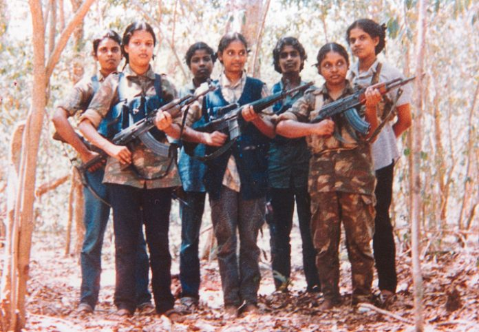 Young female Tamil Tigers have played a big role in defending the Tamil people against the Sri Lankan army