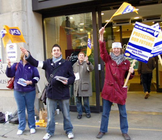Lively pickets outside Ofsted offices during the PCS one-day national strike on January 31st