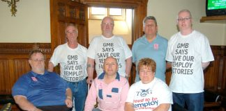 Union stewards from Remploy factories across the country attended Thursday's press conference at parliament