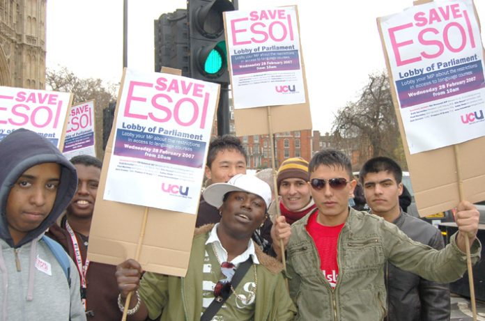 Students from all over the country lobbied parliament in February for the right to free English language courses