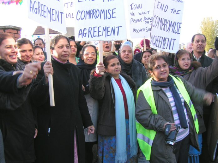 TGWU Gate Gourmet sacked workers defied their TGWU union leaders and refused to accept the Compromise Agreement which gave away all their legal  and trade union rights. Their struggle continues today – 21 months later – and they remain determined to end t