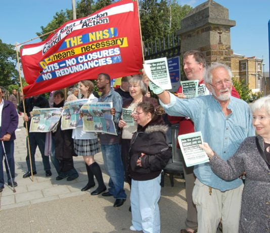 North East London Council of Action picket to defend Chase Farm Hospital on Tuesday lunchtime