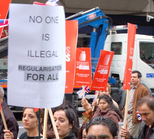 Marchers in London on May 6th demand regularisation for all migrant workers